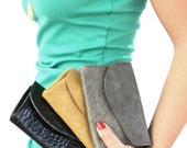 leather wallet, leather women purse, passport wallet - Custom Order - You Choose Colors