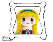 Kawaii Doll Face Hand Embroidery or Painting Pattern Cute Big Eye Anime Girl PDF DIY Stitching