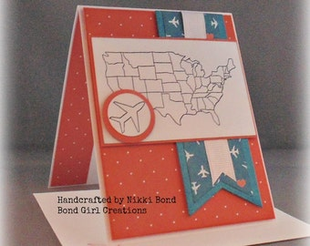 Thinking of you, Any Occasion United States Map Handmade Card