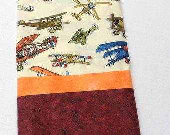 Standard Pillowcase Boy's Pillowcase Bi Plane Pillowcase Cotton Fabric Gift for Him Gift for Pilots