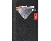 iPhone 6s 6 PLUS (5.5 inch) wallet case, cover, felt, 100% wool felt -SHETLAND- SH-6P-A