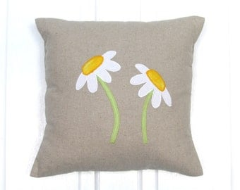 Daisy Cushion, Home Decor, Cushion, Handmade, Free Postage