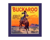 Small Journal - Buckaroo Brand Apples- Fruit Crate Art Print Cover
