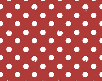 Apple of My Eye by The Qilted Fish for Riley Blake Fabrics - 1 yard Apple Dot in Red