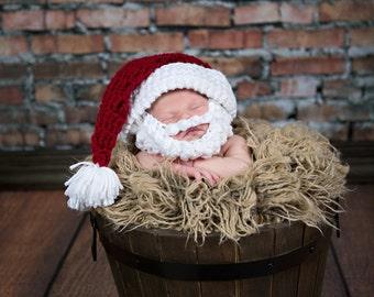 SALE!! NEWBORN Bearded Santa