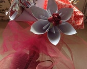 Shabby Chic I Love You Bouquet 5 Paper Flowers Included