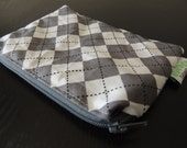 Argyle  Zippered Reusable Snack Bag by GoSewEco