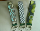 "Keychain Wristlet ""Fobs of Gray"""