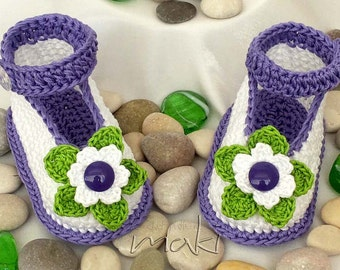 ALICE baby booties Crochet pattern - Full of large pictures! Permission to sell finished items. PDF Pattern No. 101