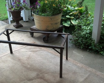 Vintage Rusty Metal Garden Table
