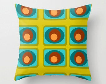 Modern Green Throw Pillow Cover, Geometric Modern Throw Pillow Cover, Mid Century Modern  Pillow Cover, Cool Pillow Cover
