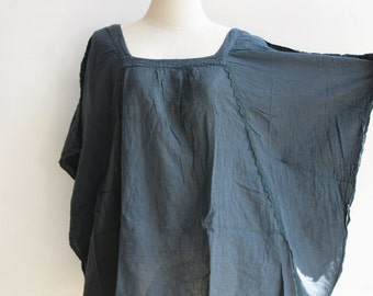 B11, Moth Dark Grey Cotton Blouse, grey shirt