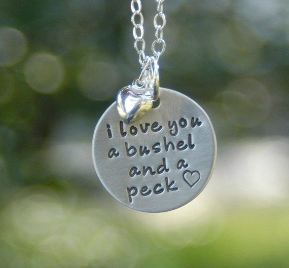 I Love You A Bushel And A Peck Mom Necklace By BeckOriginals