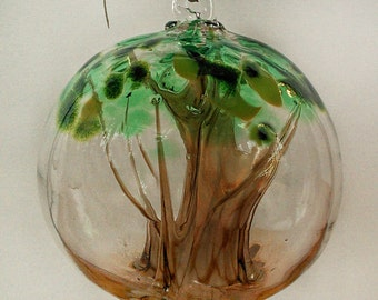 Blown Glass Tree Of Life Witch Ball