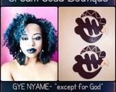 Geometric GYE Nyame: Black