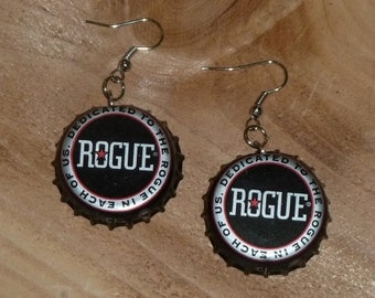 Rogue Upcycled Bottle cap Earrings