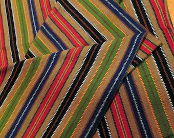 Guatemalan Fabric in Brown Stripes