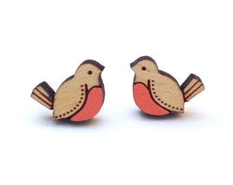 Red Bird Earrings