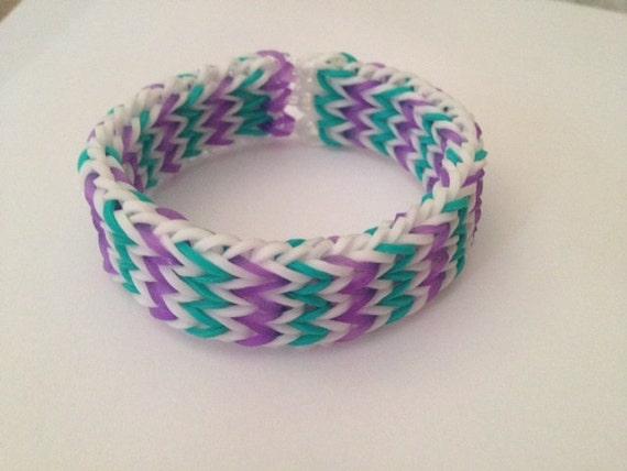 Items similar to Triple Fishtail Rubber Band Bracelet ...