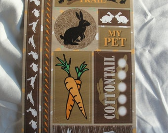 Rabbit cardstock stickers