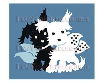 Dogs Cross Stitch, Mid-Century Dogs Silhouettes, Mid-Century Cross Stitch, Dog Pattern, Cross Stitch, Needlepoint NewYorkNeedleworks on Etsy