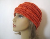 Orange Beanie Hat - Women or Mens Beanie Hat