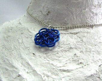 Chainmaille Flower Pendant - Choose your color