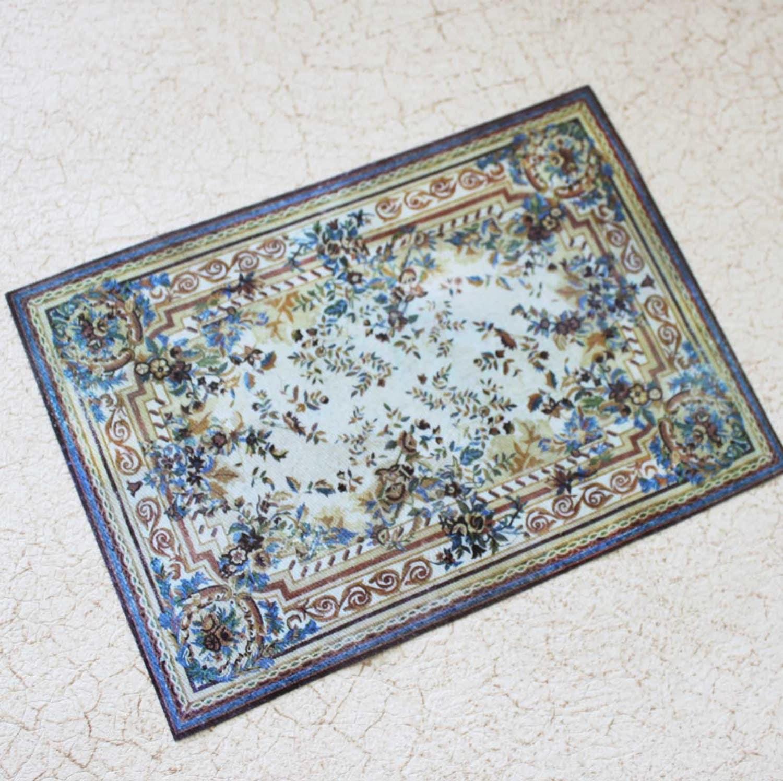 miniature floral aubusson rug blue and gold. Black Bedroom Furniture Sets. Home Design Ideas