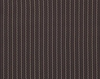 SALE-One Yard from Denyse Schmidt's Ansonia Collection for FreeSpirit- Fine Stripe in Onyx