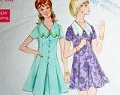 Vintage 60s A-Line Dress Mini Sewing Pattern Butterick 5711 Size 14 Bust 36