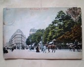 Paris - 1913 - Antique French Postcard with Belgian stamp