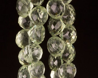 AAA Prasiolite Onion Briolettes 6-7mm  6 Beads