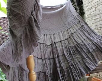 Ariel on Earth Ruffle Wrap Skirt - Rosy Brown
