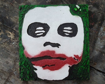 The joker wooden wall art, Batman, heath Ledger, wood carving, movie art, wall hanging