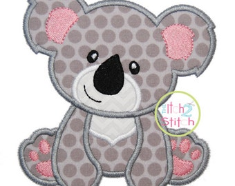 """Koala Bear Applique Design For Machine Embroidery (""""Hello Heartache"""" Font is NOT included) INSTANT DOWNLOAD now available"""