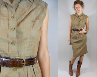 Vintage 1970s Rockabilly Dress / 70s Dress