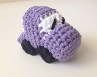 Purple Crochet Race Car Amigurumi Copy