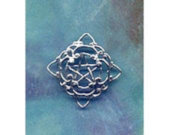 SterlingSilver  Gothic Lace Pentacle Pentagram Pendant Pent119