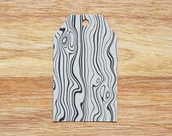 Woodgrain Holiday Christmas Gift Tags - Set of 6