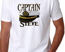 Adult Captain Shirt -  Personalized Ship Captain Shirt - Humor Captain Shirt - Birthday Gift - Fathers Day Shirt - ship boat sailor