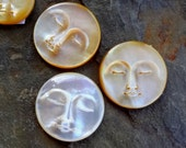 25mm Mother of Pearl Moon Face Cabochon