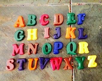 Alphabet crayon set