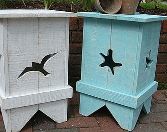 Side Table Night Table Wood Shutter Beach House Coastal Furniture Decor Assemble Yourself by CastawaysHall