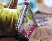 valentine's day love locket glass and sterling silver locket