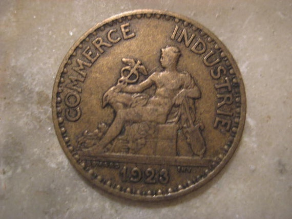 1923 french coin bon pour 1 franc chamber of by starpower99 for Chambre de commerce de france bon pour 2 francs 1923