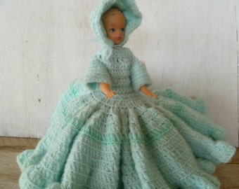 Vintage Crochet Bed Doll