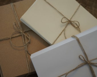 """a7 Envelopes for 5x7"""" Cards - Pack of 50 or any amount via reserved listing"""