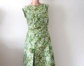 1960s Tori Richard Dress / floral print cotton a-line sundress / designer vintage hawaiian resort wear