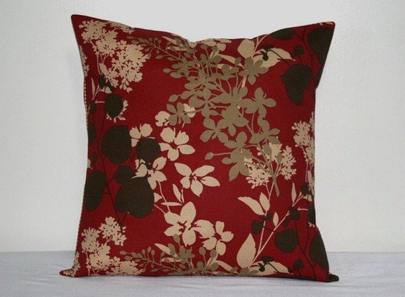 red brown and tan 18 inch decorative pillows accent pillows. Black Bedroom Furniture Sets. Home Design Ideas