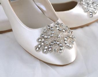 Wedding Shoes -Flats, Shoes Womens Wedding Shoes, Women's Bridal Shoes, Ballet Style Shoes Ladies Bridal Womens Wedding Shoes Pink2Blue